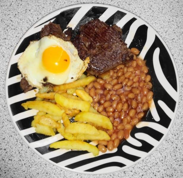 English Steak Breakfast
