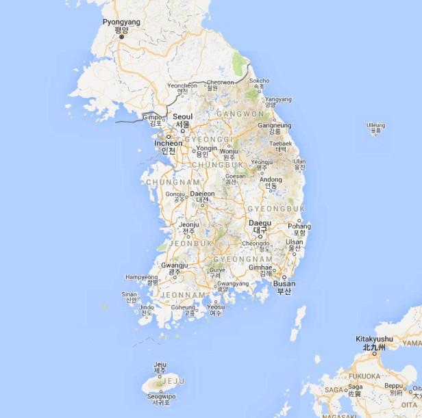 Google Maps of South Korea