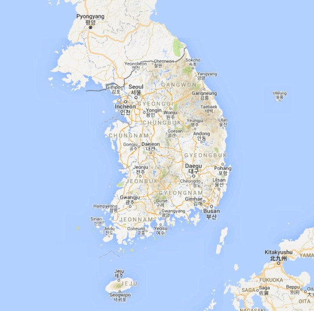 Google Maps of South Korea