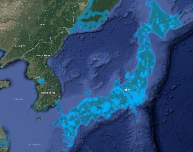 Google Maps Streetview South Korea vs. Japan