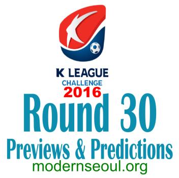 K League Challenge 2016 Round 30 banner