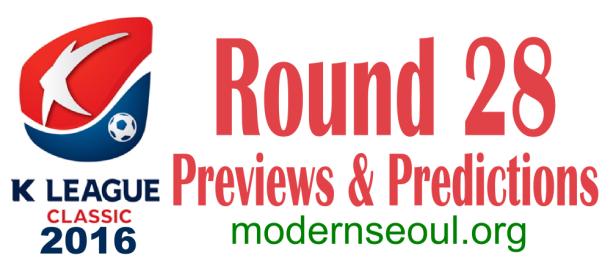 K League Classic 2016 Banner Round 28