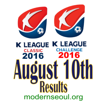K League Classic 2016 Challenge Results banner august 10