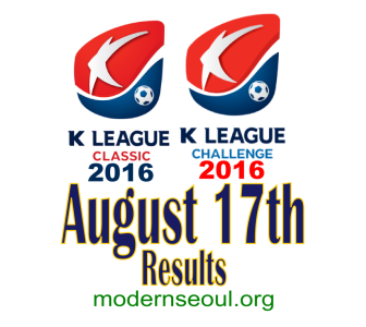 K League Classic 2016 Challenge Results banner august 17
