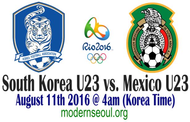 South Korea U23 v Mexico U23 Rio 2016 August 11th