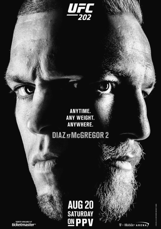 UFC 202 Diaz McGregor 2 Poster long