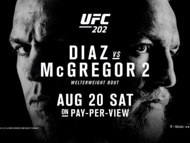 UFC 202 Diaz McGregor 2 Poster