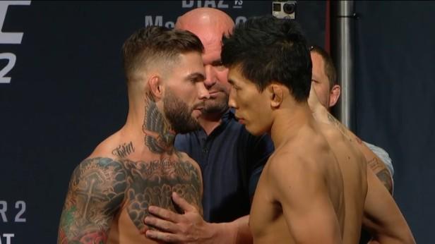 UFC 202 Weigh-ins Cody Garbrandt Takeya Mizugaki