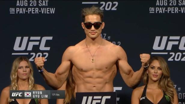UFC 202 Weigh-ins Hyun Gyu Lim