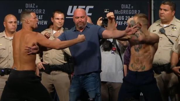 UFC 202 Weigh-ins Nate Diaz vs. Conor McGregor