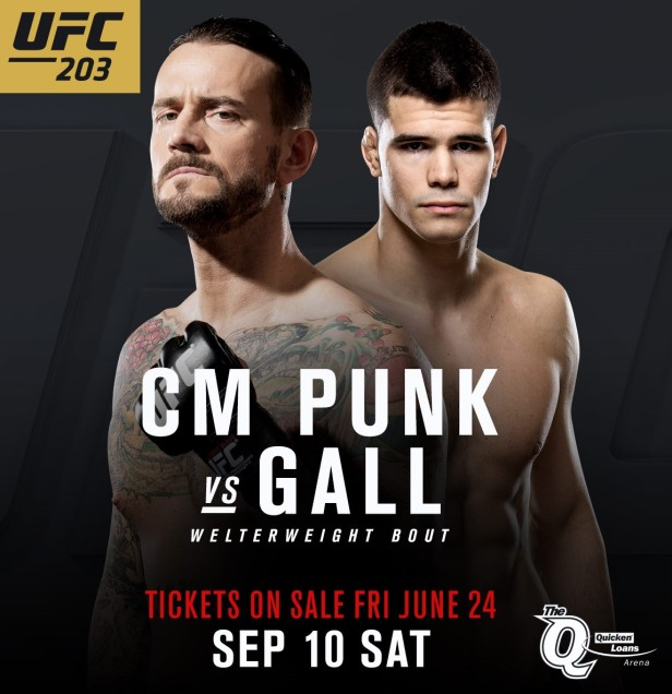 cm punk mickey gall ufc 203 poster
