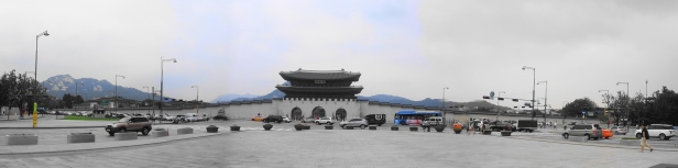 Gyeongbokgung Palace Front Gate Pano