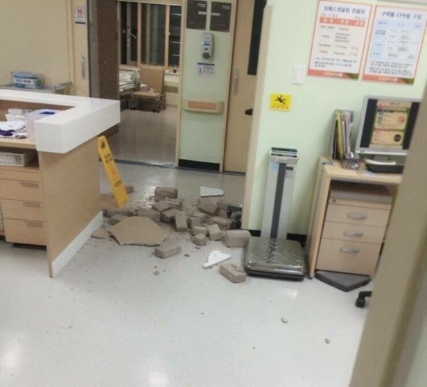 gyeongju-earthquake-2016-damage-hospital