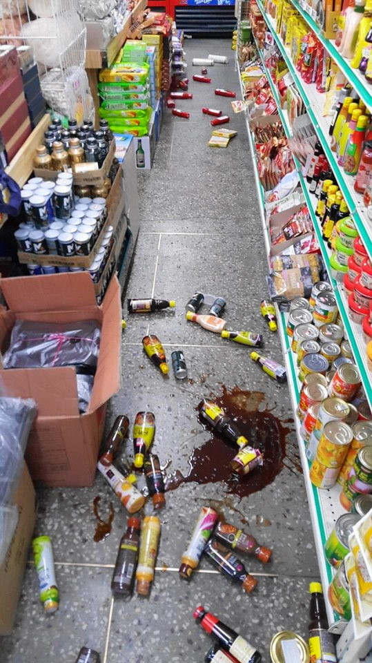 gyeongju-earthquake-2016-damage-supermarket