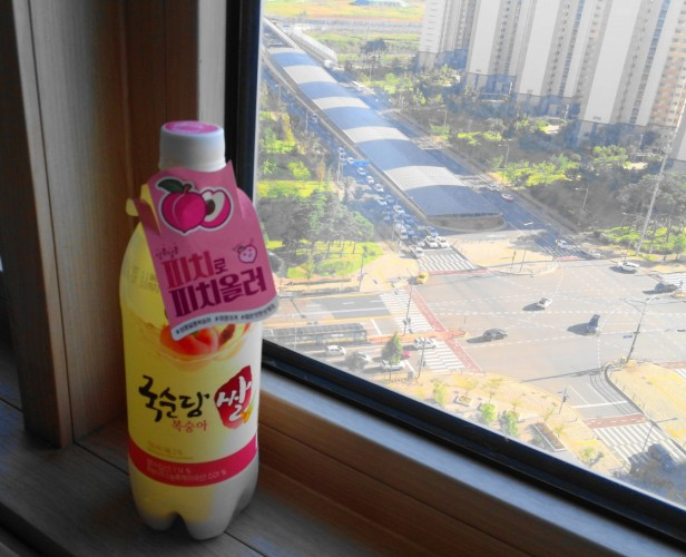 Peach Makkoli Rice Wine 2016 cheongna