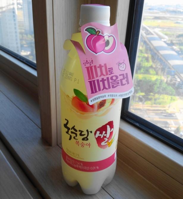 Peach Makkoli Rice Wine 2016