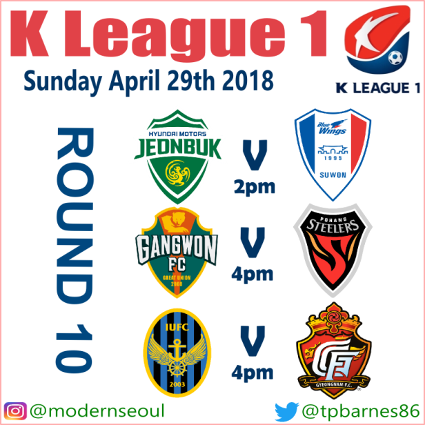 K League Sunday April 29th 2018 (Preview and Predictions
