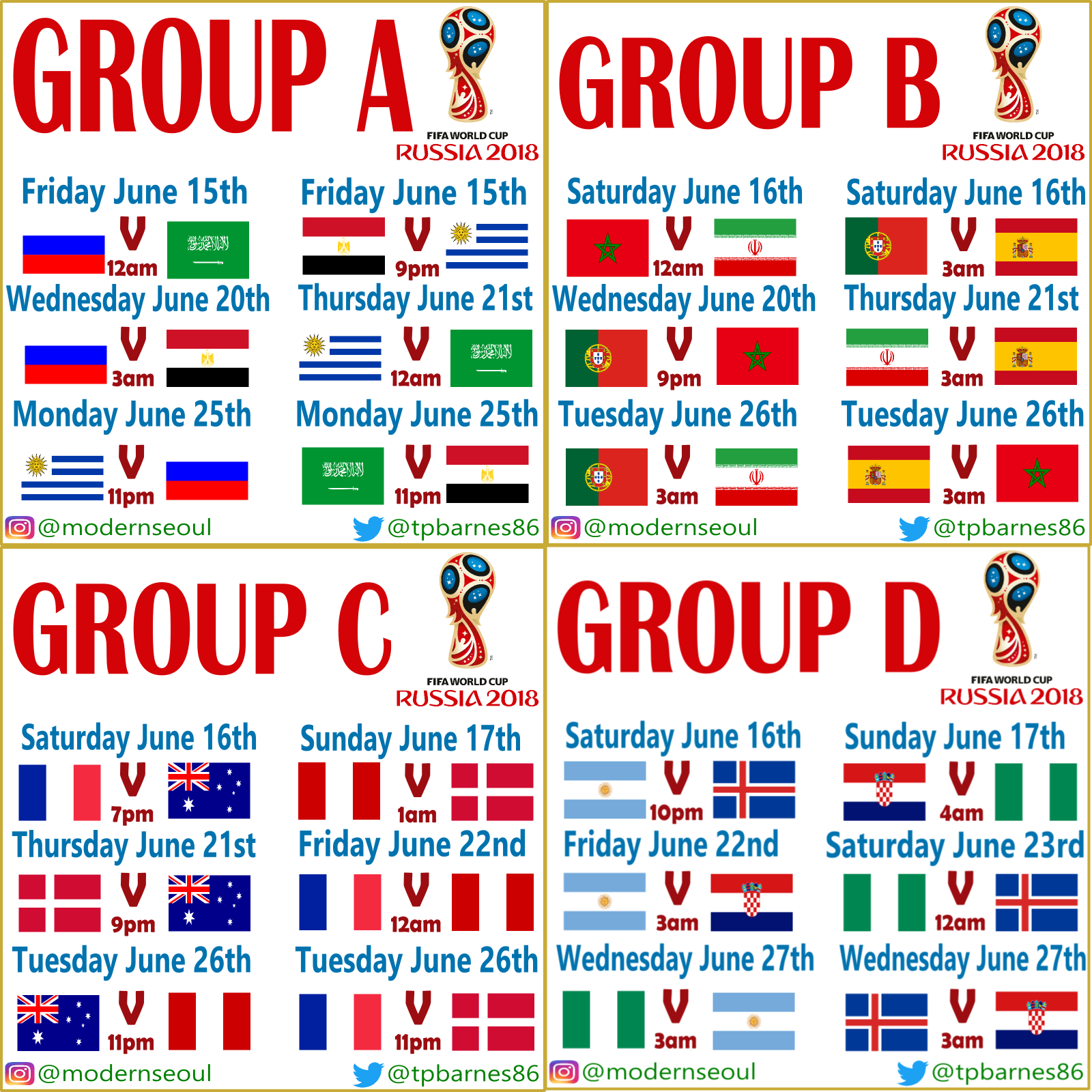 image relating to World Cup Groups Printable called World-wide Cup 2018 Local community Issue Seoul/KST Kick Off Periods
