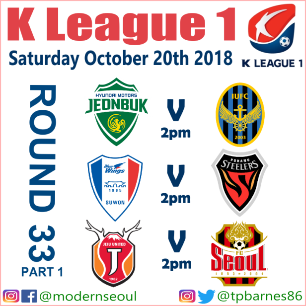 K League 2018: October 20th-21st (Predictions) – Modern Seoul
